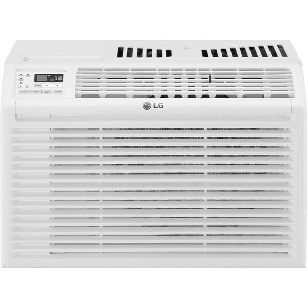 LG LW6017R 6,000 BTU Window Air Conditioner with Energy Saver, 24 Hour Timer, Auto Restart, 3 Fan Speeds, Filter Alarm, Wireless Remote, 11.5 EER, 134 CFM, 1.8 Pts/Hr Dehumidification and 115V LW6017R