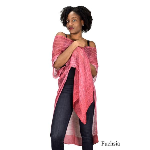Peach Couture Laced Hem Sheer Beach Kimono 28225862