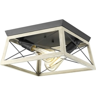 Briarwood Collection 2-Light Graphite Flushmount