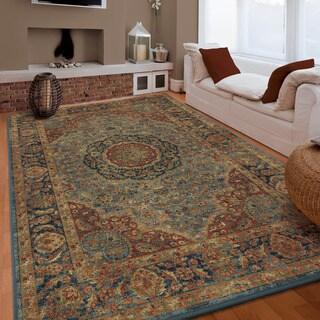 """Carolina Weavers Boho Vintage Bohemian Romani Blue - 7'10"""" x 10'10"""""""