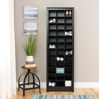 Porch & Den Hewitt Black Space-Saving Shoe Storage Cabinet