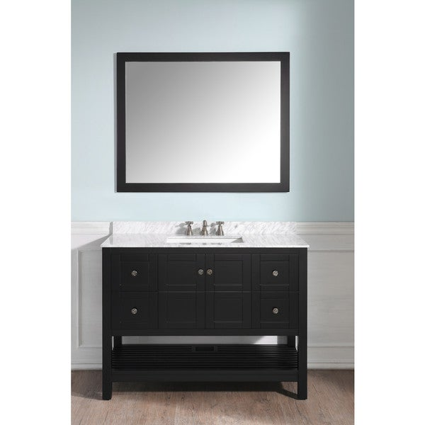 ANZZI Montaigne 48 in. Vanity Set with Top, Sink and Mirror - Espresso 28259091