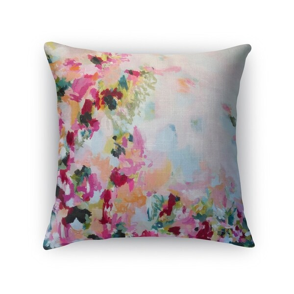 Kavka Designs pink/ blue/ green/ purple/ red/ peach perusian panache accent pillow with insert 28275094