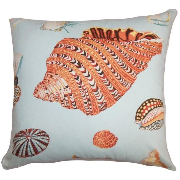 Rayen Coastal Floor Pillow Orange Blue 28276099