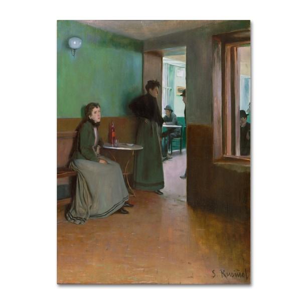 Santiago Rusinol 'Interior Of A Cafe In Spain' Canvas Art 28283858