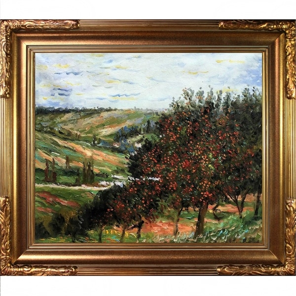 Claude Monet Apple Trees in Bloom Hand Painted Oil Reproduction 28285230