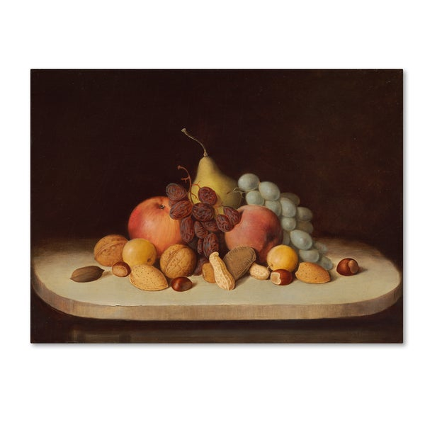 Robert Duncanson 'Still Life With Fruit And Nuts' Canvas Art 28286630