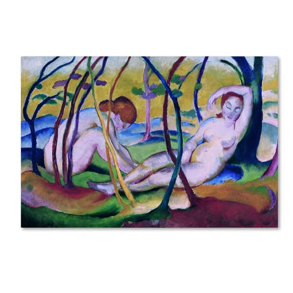 Franz Marc 'Nudes Under Trees' Canvas Art 28289785