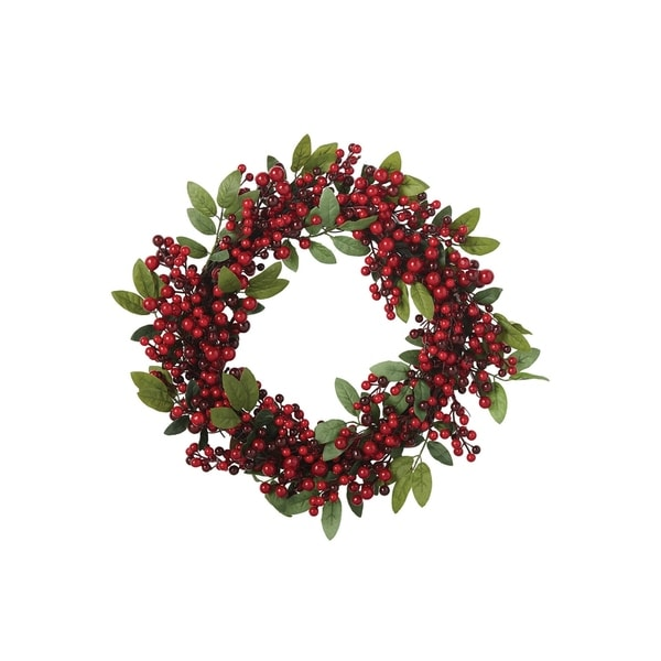 Red Berry Sprig Wreath 28314128