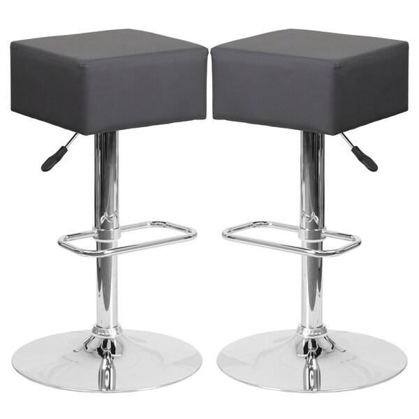 Cubic Design Grey Swivel Adjustable Barstools