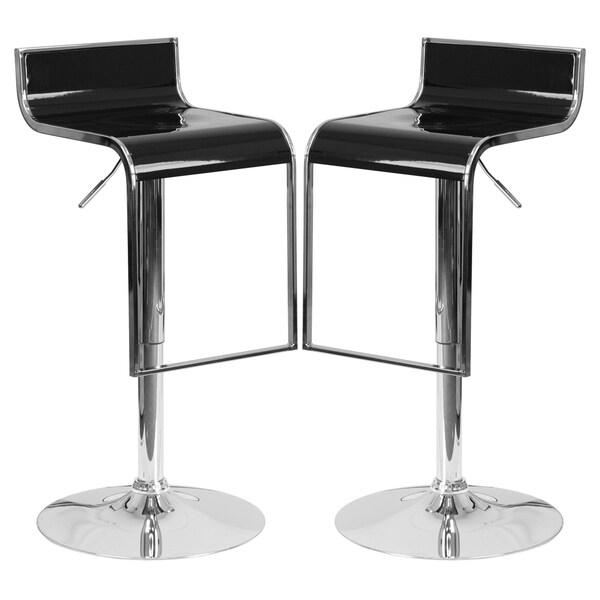 Groovy Design Black Adjustable Swivel Barstools