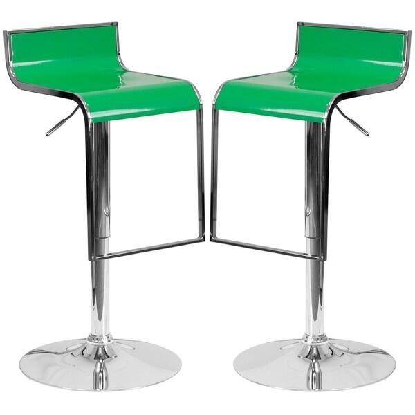Groovy Design Green Adjustable Swivel Barstools