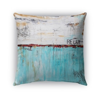 Kavka Designs blue; ivory; brown relax outdoor pillow with insert