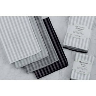 Grey Stripe Microfiber Dishtowel (Set of 4)