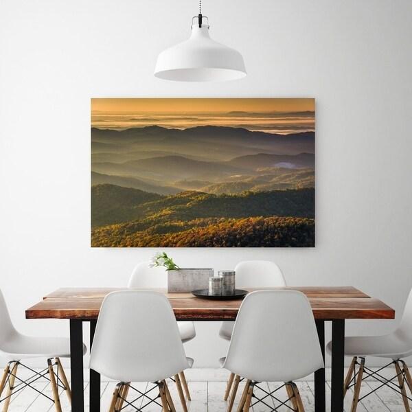 Noir Gallery Autumn Blue Ridge Mountains View in North Carolina Fine Art Photo Print 28327372