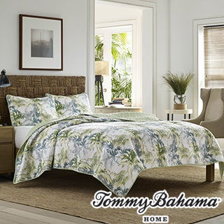 Tommy Bahama Lighthouse Quay Cotton Quilt Set