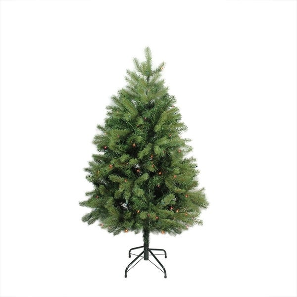 4' Pre-Lit Noble Fir Full Artificial Christmas Tree - Multi-Color Lights 28357877