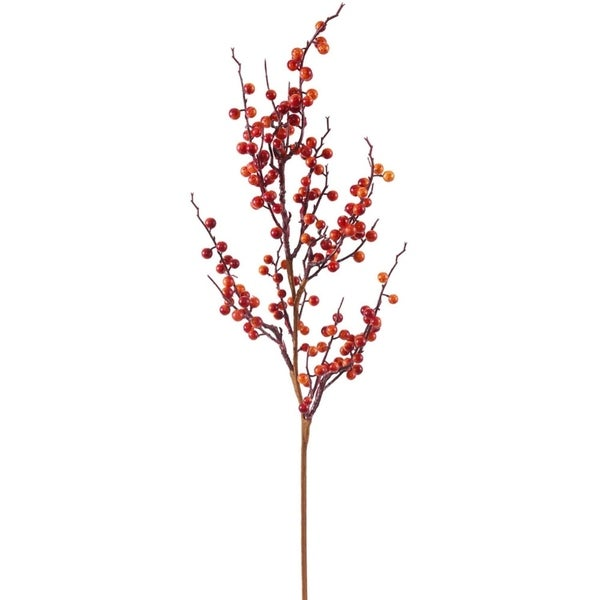 "30"" Vibrant Wild Fall Berry Artificial Decorative Christmas Spray 28361582"