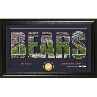 "Chicago Bears ""Silhouette"" Panoramic Bronze Coin Photo Mint - Multi-color"