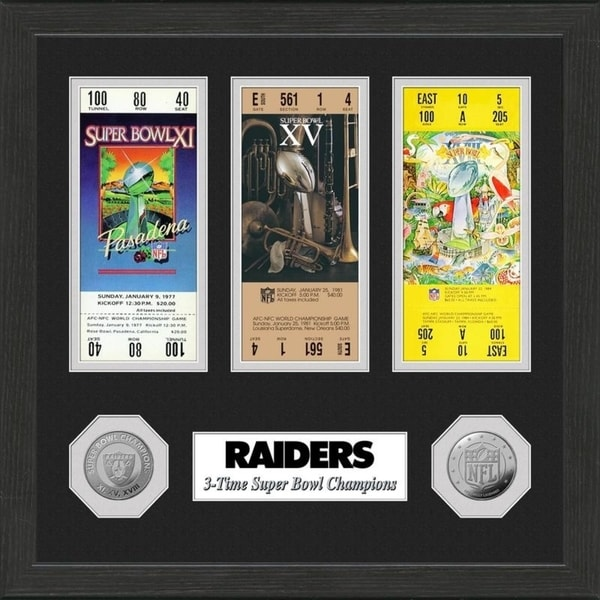 Oakland Raiders Super Bowl Ticket Collection 28363331