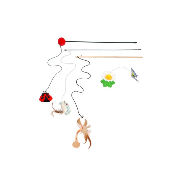 Purrrfect Life Cat Wand and Fly by Spinner Interactive Cat Toy Set 28370140
