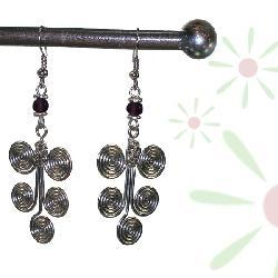 Strong Roots Silverplated Earrings (Kenya)