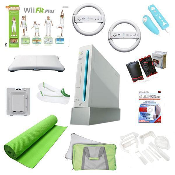 Nintendo Wii Mega Holiday Bundle-Wii Fit Plus, Yoga Mat, and Much More