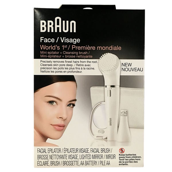 Braun Face 831 Facial Epilator with Carry Pouch and Mirror 28386792