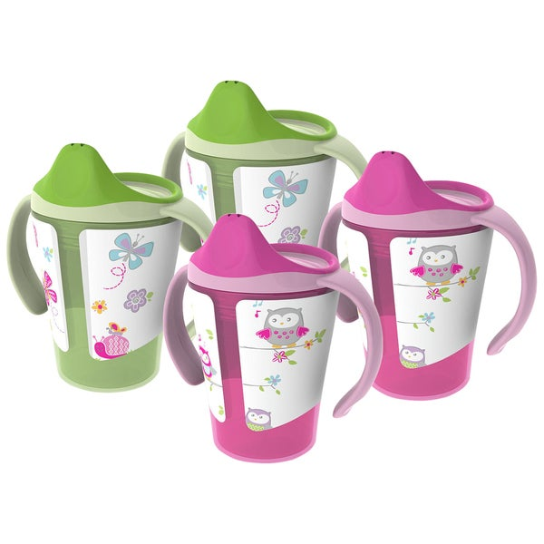BPA-Free Grow with Me 6 oz. Training Cup, 4 Count, Girl 28390981