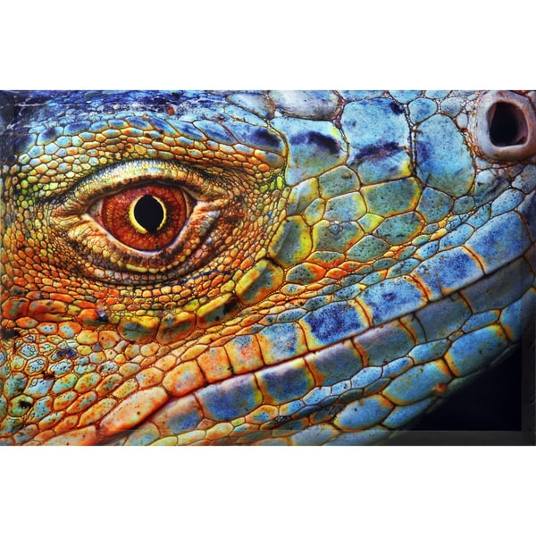 Empire Art Iguana Beveled Canvas Giclee w/ Epoxy 28392740