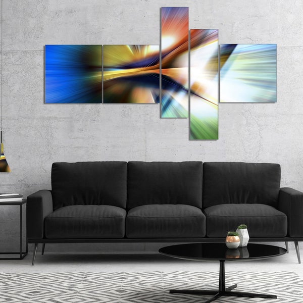 Designart 'Rays of Speed Center' Abstract Canvas art print 28406612