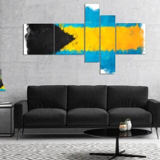 Designart 'Bahamas Flag Illustration' Flag Painting Canvas Print