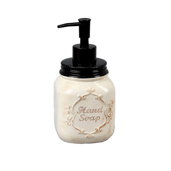 Ceramic Mason Jar Soap/Lotion Dispenser 28407307