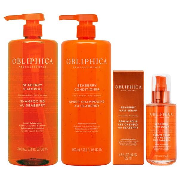 Obliphica Seaberry Shampoo Conditioner & Hair Serum for Fine to Medium Hair 28407939