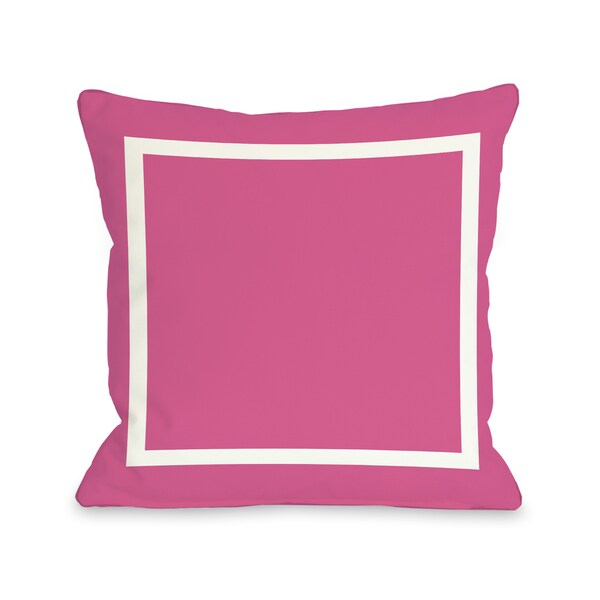 Samantha Simple Square - Hot Pink 16 or 18 Inch Throw Pillow by OBC 28409618