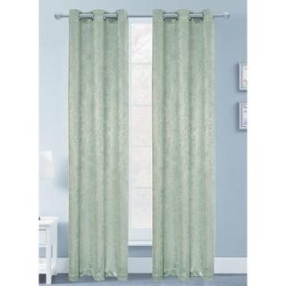 Artistic Silver Foil Blackout Curtain Panel Pair