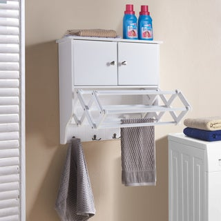 Danya B. Accordion Drying Rack with Cabinet