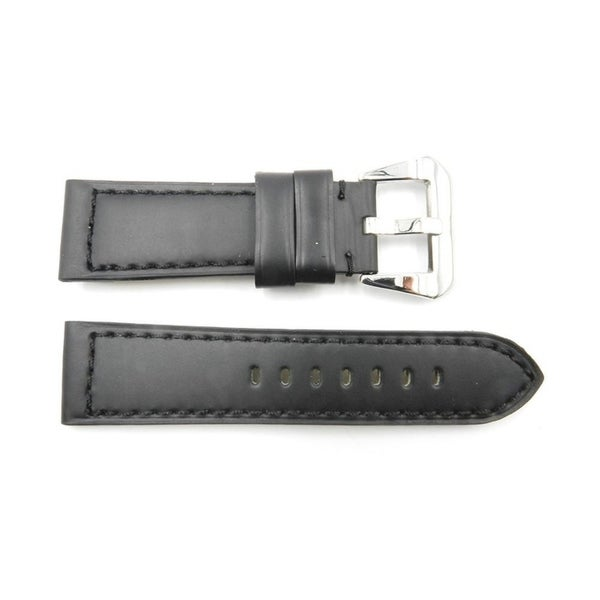 24mm Black Genuine Leather Heavy Padded Panerai Watch Strap 28428567