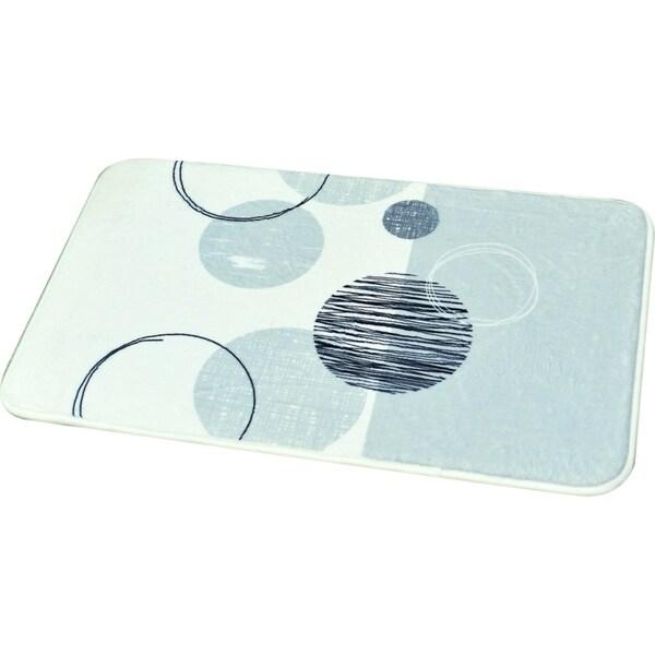 Evideco Microfiber Bath Mat Design ESSENTIAL Gray White Bath Rug 28428629