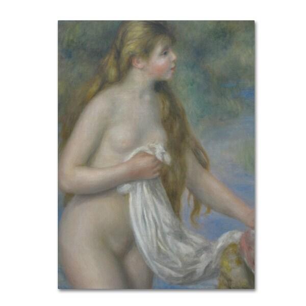 Pierre Renoir 'Bather with Long Hair c. 1895' Canvas Art 28431686