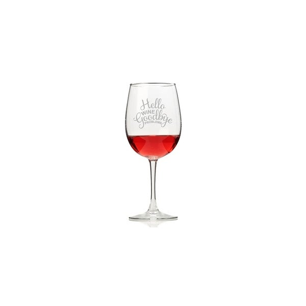 Hello Wine Goodbye Problems Wine Glasses (Set of 4)