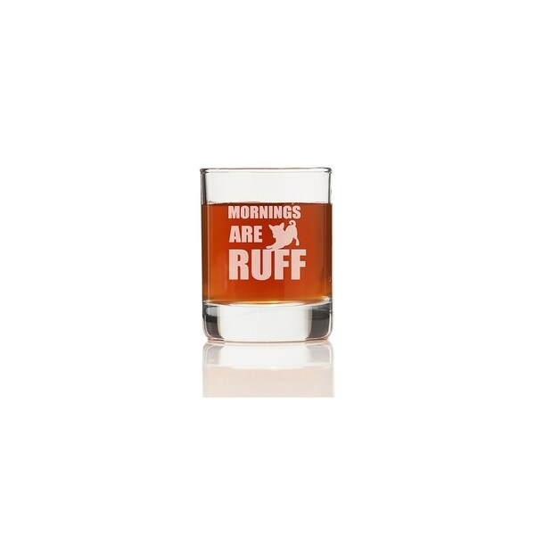 Mornings are Ruff Glass Shot Glass (Set of 4) 28436285
