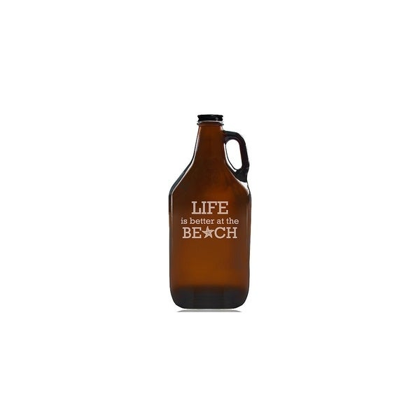 Life is Better At The Beach Beer Amber Growler 28437240