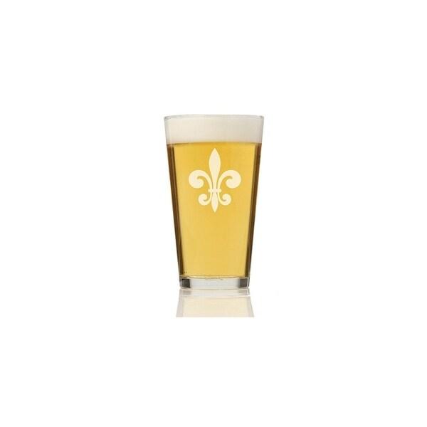 Fleur de Lis Glass Pint Glass (Set of 4) 28437509