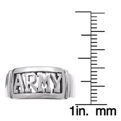 Tressa Sterling Silver Large Armed Forces Ring