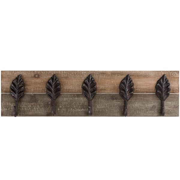 Wall Mounted Wood and Metal Coat Rack Farmhouse Wall Decor 28439193