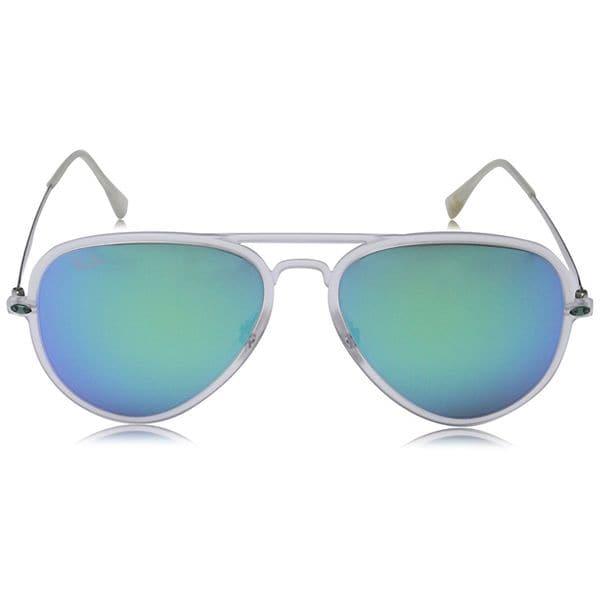 Ray Ban RB4211 Aviator Light Ray Unisex Silver Frame Blue Mirror Lens Sunglasses 28441981