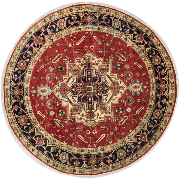 eCarpetGallery Serapi Heritage Black/Brown Wool Hand-knotted Round Rug (8' x 8') 28464609