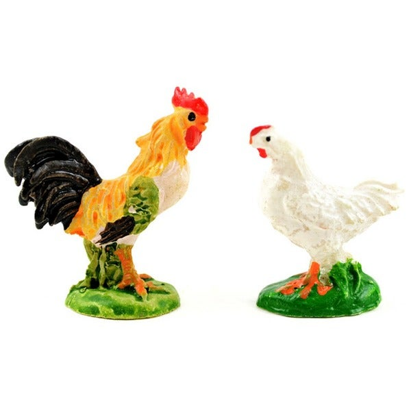 Fairy Garden Rooster & Chicken 2/Pkg 28524037