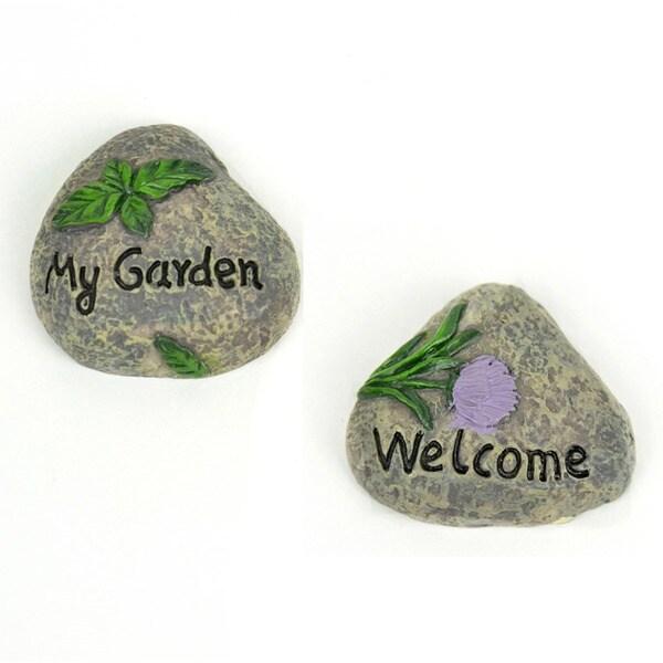 Fairy Garden Welcome/My Garden Rocks 2/Pkg 28524077